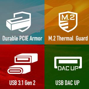 ultra durable, thermal guard, usb 3.1, usb dac