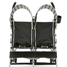 delta children side by side stroller kids twins toddler baby lightweight umbrella compact fold