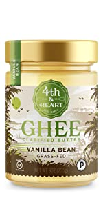 fourth and heart 4th madagascar vanilla bean ghee clarified butter grass fed lactose free keto