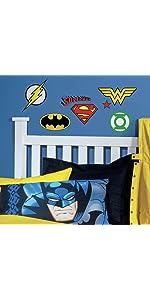 dc superhero logos peel and stick wall decals, peel and stick wall decals