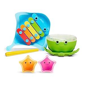 munchkin music dingray bath toy