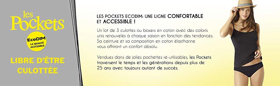 dim; sous vetement; bas du corps; slip; culotte; boxer; pocket; confort; coton