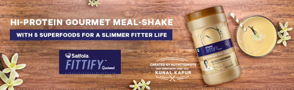 slimming meal, gourmet, kunal kapur, high protein, Superfoods,  fitter, fitness, fit,vanilla shake