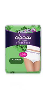 Liners · Pads · Underwear · Boutique Underwear