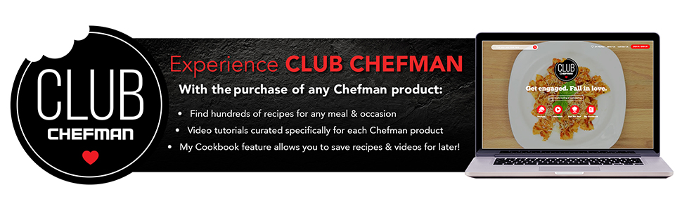 Club Chefman, Recipes, Guided Cooking, Tutorials