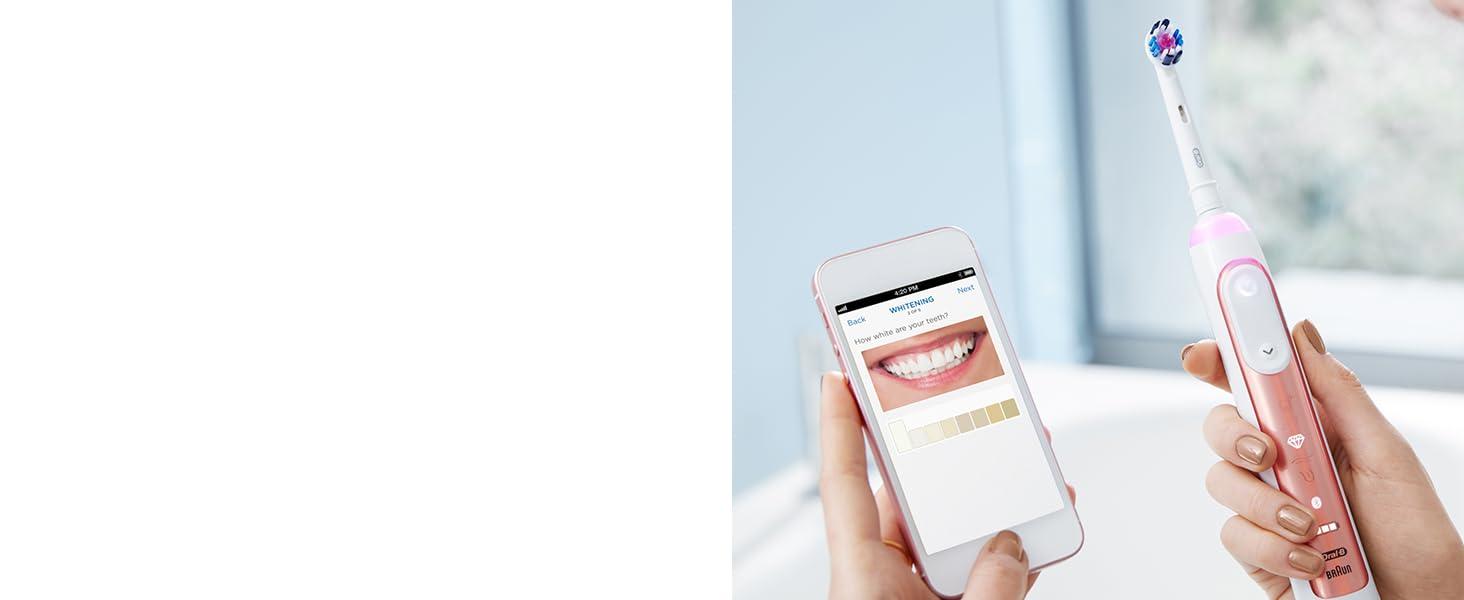 Oral-B Genius 9000 Rose Gold Whitening Mode