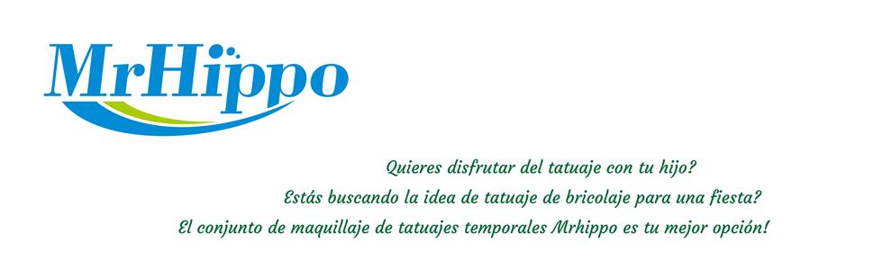 Kit de Tatuajes Temporales de MrHippo,Tatuaje de Brillo,con 208 ...