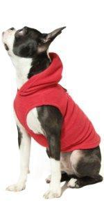 gooby fleece dog vest hoodie