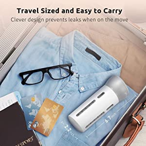 Nacuwa 4 in 1 bottle set for traveling and storage