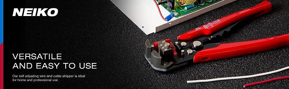 Neiko/® 01924/a autoregolante 3-in-1/spelafili automatica taglierina e pinza crimpatrice