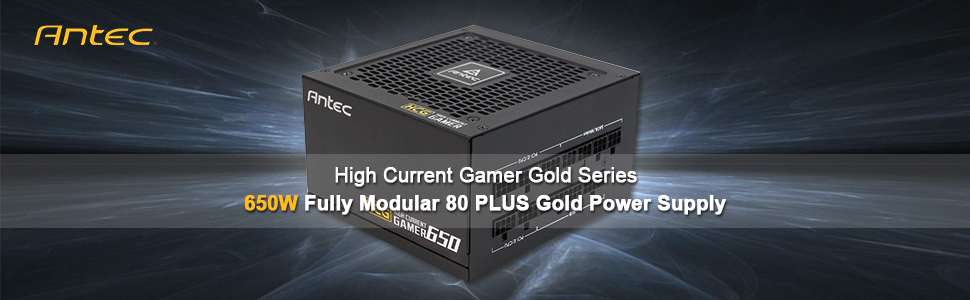Antec HCG650 Gold Power Supply 650 Watts 80 PLUS Gold PSU with Full  Modular, 120mm FDB Fan, Japanese Capacitors, ATX12V 2 4, 10 Years Support