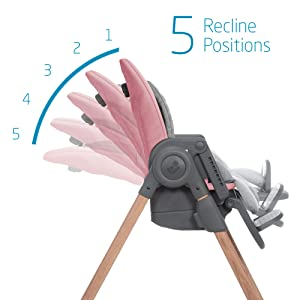 5 Recline Positions