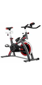 FITFIU BESP-100 - Bicicleta Spinning Indoor resistencia regulable con disco inercia 16kg, Bici Entrenamiento Fitness con sillín ajustable, Pulsómetro y pantalla LCD: Amazon.es: Hogar