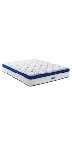 Vibe Queen 12 Inch cool gel memory foam mattress, hybrid mattress queen, best hybrid