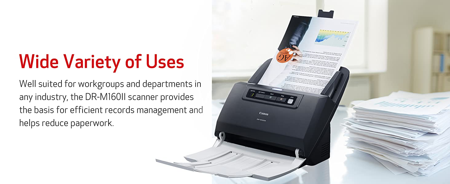 uses work paperwork scanner any industry