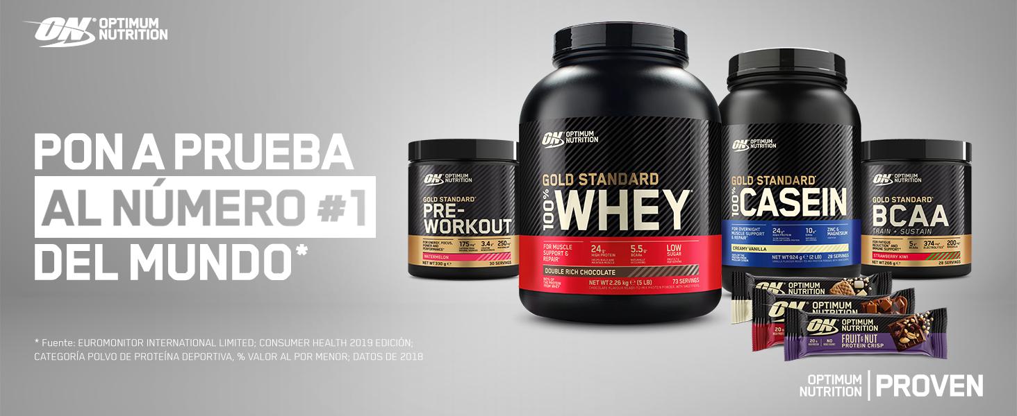 Optimum Nutrition High Protein Shake, Batidos de Proteinas para Aumentar Masa Muscular, Paquete de 10 Batidos, Fresa, 10x500ml