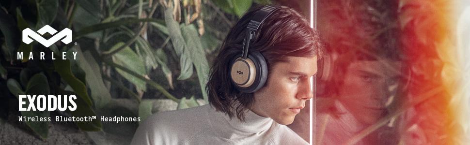 house of marley, wireless bluetooth headphones, over ear earphones