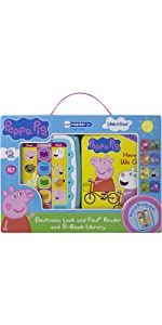 Peppa Pig - Electronic Me Reader Jr and 8-Book Library