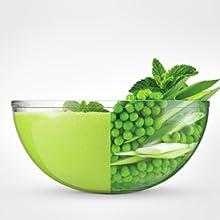 peas blended, puree