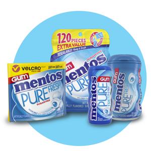 perfect pack, mentos gum, mentos fresh mint gum, mentos