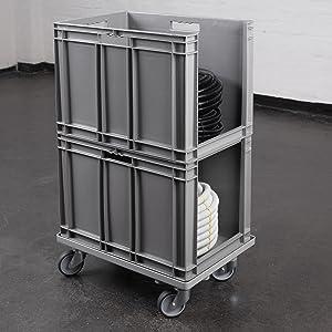 Gebruik met europenormcontainers.