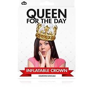 Amazon.com: Corona inflable, color dorado Rey por un ...