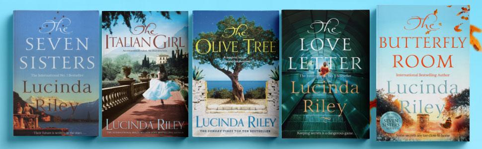 Lucinda Riley backlist Seven Sisters Italian Girl Olive Tree Love Letter Butterfly Room