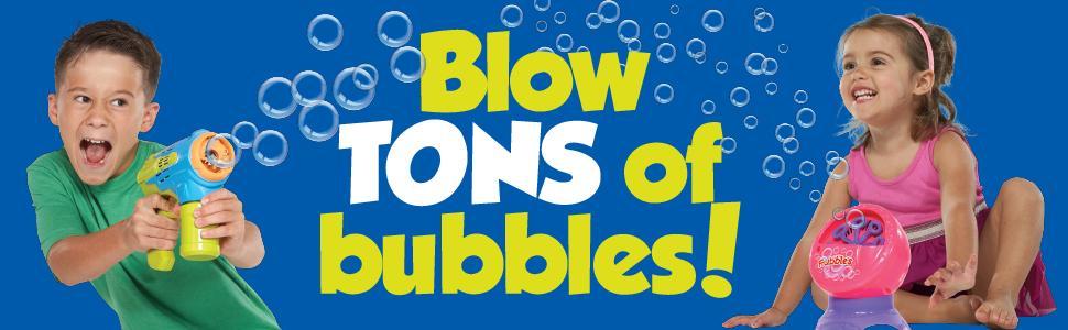 Fubbles, Bubbles, Bubble Solution, Bubbles For Kids, Bubbles for Toddlers, Bubble Wand, 64oz bubbles