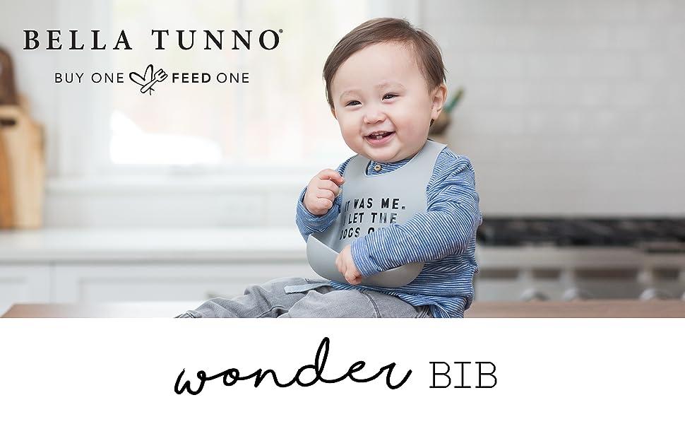 bella tunno, wonder bib, bib, silicone, flexible, dishwasher safe, BPA free, PVC free, baby, toddler