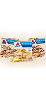 Atkins, snack bars, low sugar, low carb, high fiber, nutritional bars, sports bars, snacks