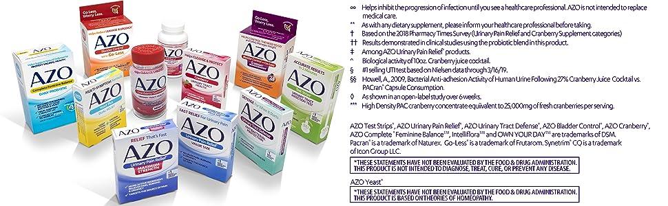AZO bottom disclaimer module