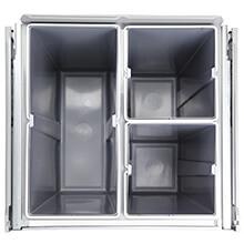 kitchen waste separation, concealed waste bin, 3 compartments waste bin
