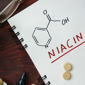 notebook with niacin notes