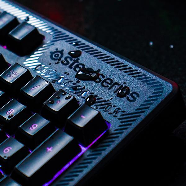 SteelSeries Apex 150, teclado de juego, iluminación RGB de 5 zonas, resistente a