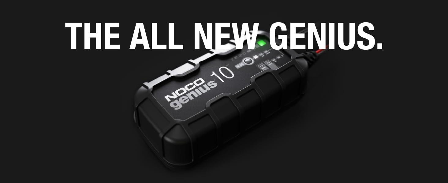 GENIUS10, 6V, 12V, charger, maintainer, desulfator, lead-acid batteries, 230 amp-hours, repair mode