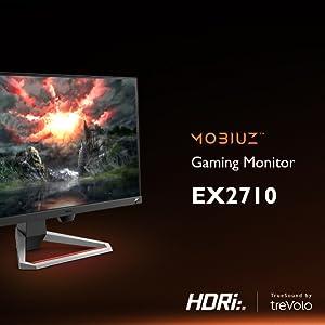 "BenQ MOBIUZ EX2710 – Monitor Gaming de 27"" Full HD, HDRi IPS, 144Hz, 1ms, AMD FreeSync Premium, Gris Oscuro: Amazon.es: Informática"