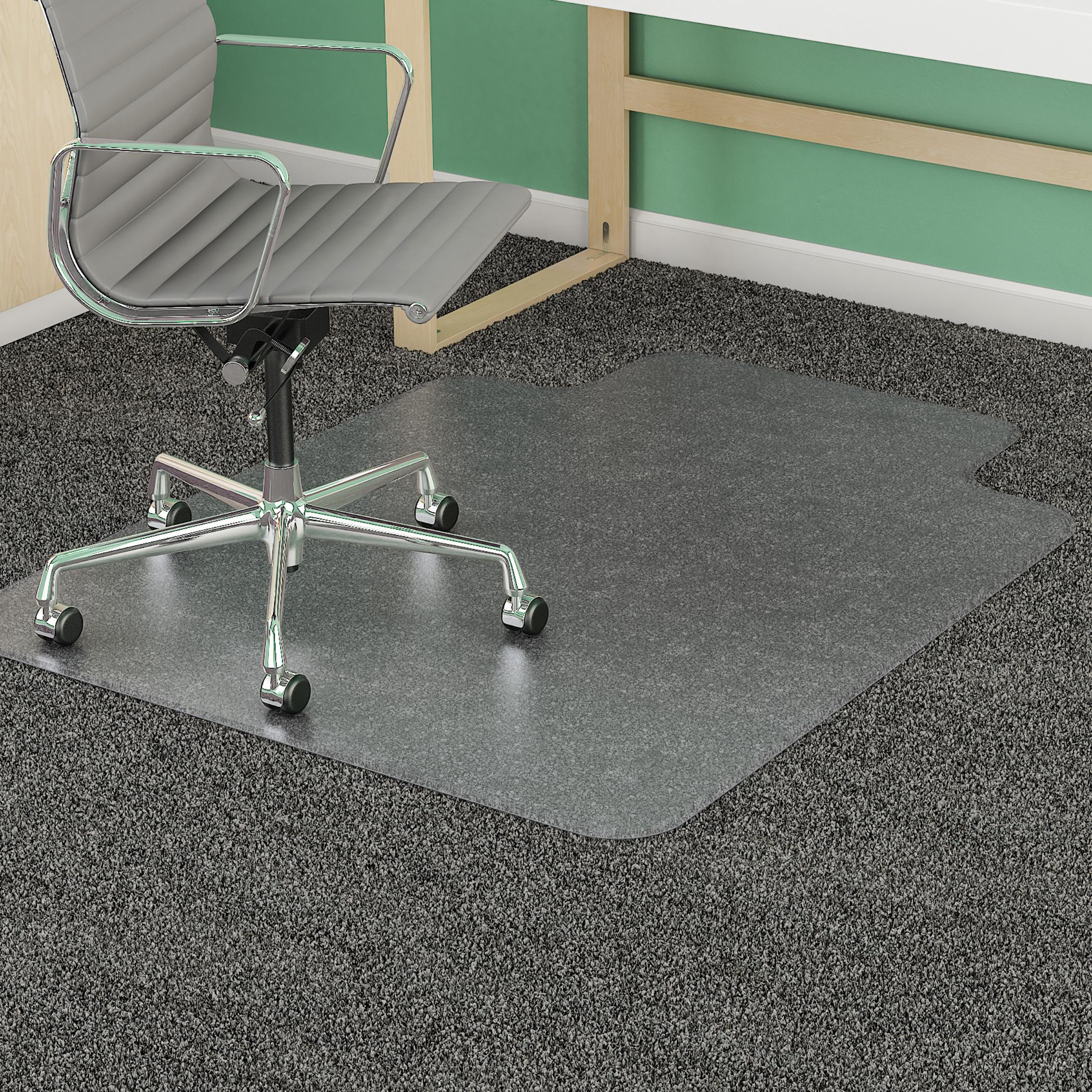amazon com deflecto supermat clear chair mat medium pile carpet
