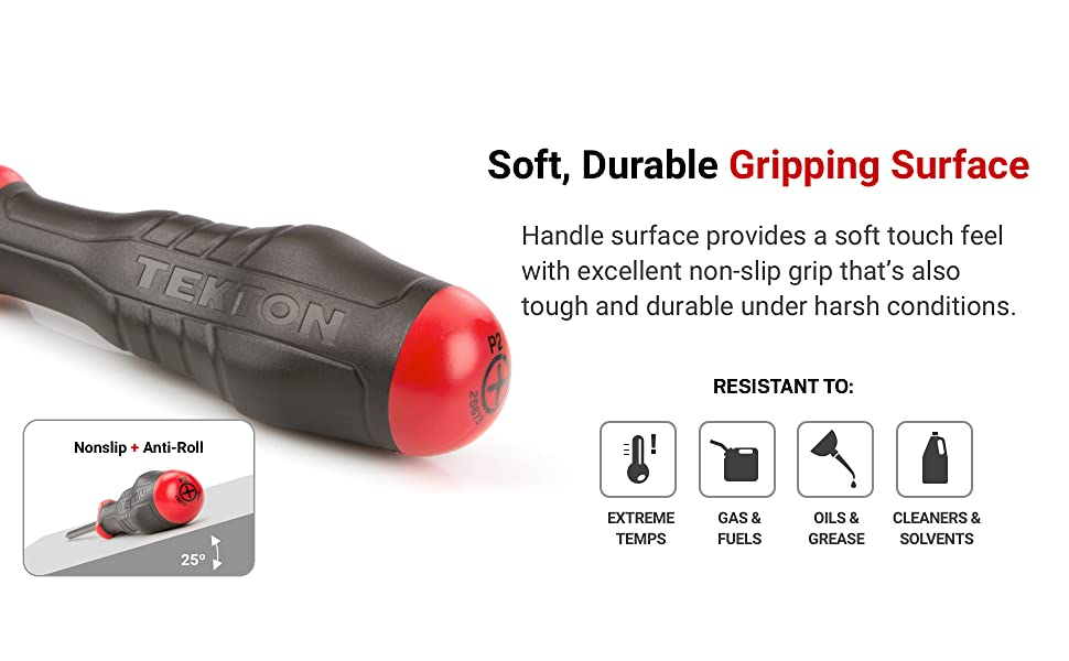 soft, durable gripping surface