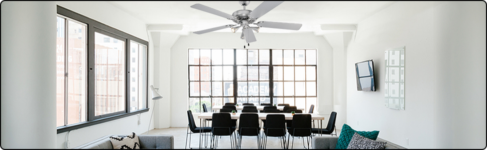 ProfiCare PC-DVL 3078 Ventilateur de plafond en acier inoxydable