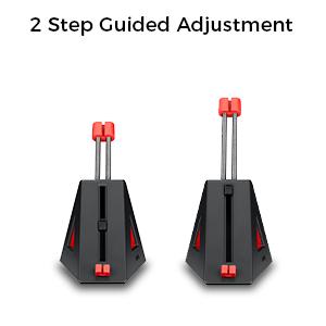 2 steps guide adjustment