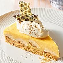 bnanana cream pie, egg nog, brulee, nestle, carte d'or, dessert, cake, ray liotta