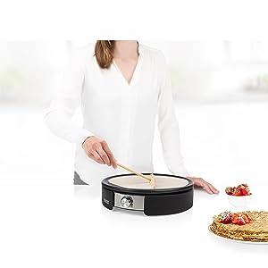 Superficie para cocinar grande de 37 cm
