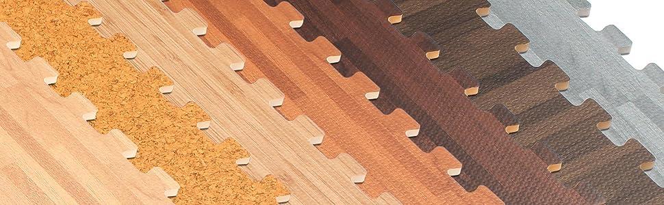 Forest floor 3 8 thick printed wood grain for Cork flooring wood grain look