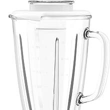 Moulinex Blendforce Cristal LM430110 Batidora vaso de cristal 800 W, 4 cuchillas con función pica hielos, 3 velocidades, limpieza fácil y jarra de ...