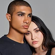 eyeshadow on model
