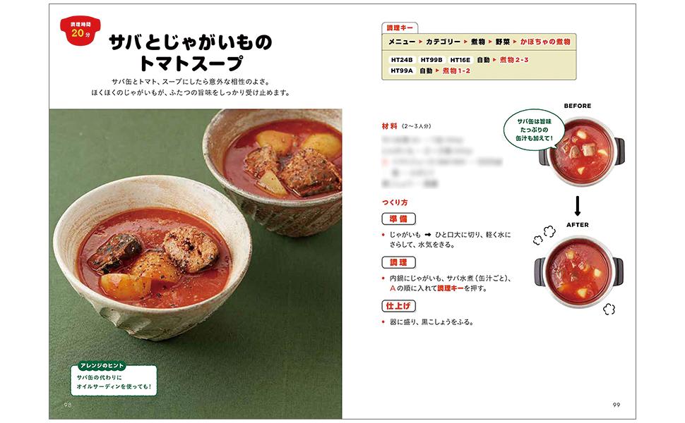 サバ じゃがいも トマトスープ