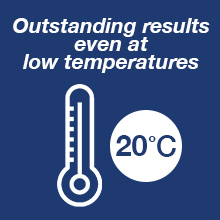 Omo Ultimate Outstanding results even at low temperatures