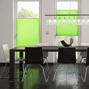 Lichtblick Klemmfix Plissee Wohnzimmer grün