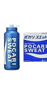 【セット買い】大塚製薬 ポカリスエット スクイズボトル & パウダー74g×5袋