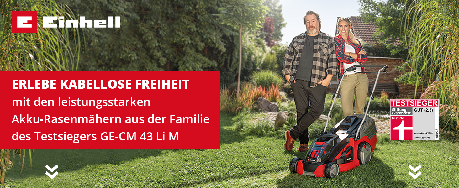 1.500W, 36 cm Schnittbreite, 38L Fangbox, Einhell Elektro-Rasenmäher GC-EM 1536